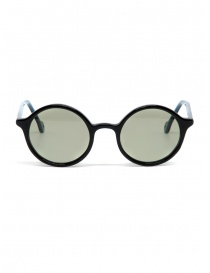 Glasses online: Kapital sunglasses in black acetate with green lenses