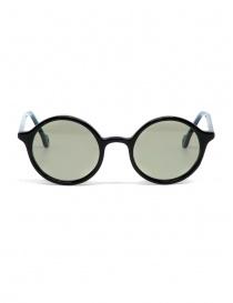 Occhiali da sole Kapital in acetato nero con lenti verdi online