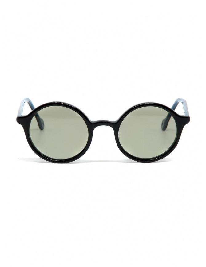 Occhiali da sole Kapital in acetato nero con lenti verdi K1909XG520 BLK occhiali online shopping