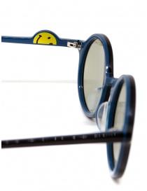 Occhiali da sole Kapital in acetato nero con lenti verdi occhiali prezzo