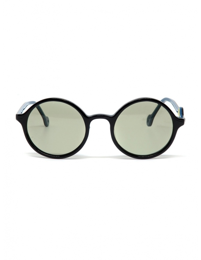 Kapital sunglasses with green lenses and smile detail K1909XG521 BLK glasses online shopping