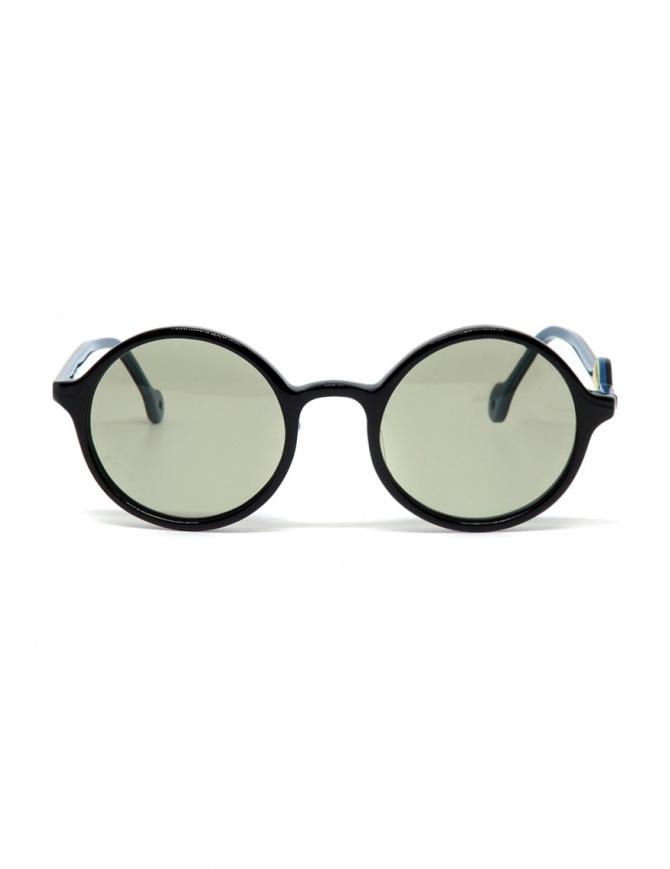 Occhiali da sole Kapital con lenti verdi e dettaglio a smile K1909XG521 BLK occhiali online shopping