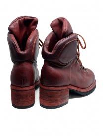 Stivale Guidi R19V rosso in pelle di cavallo stile scarpone prezzo