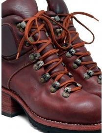 Stivale Guidi R19V rosso in pelle di cavallo stile scarpone calzature donna acquista online