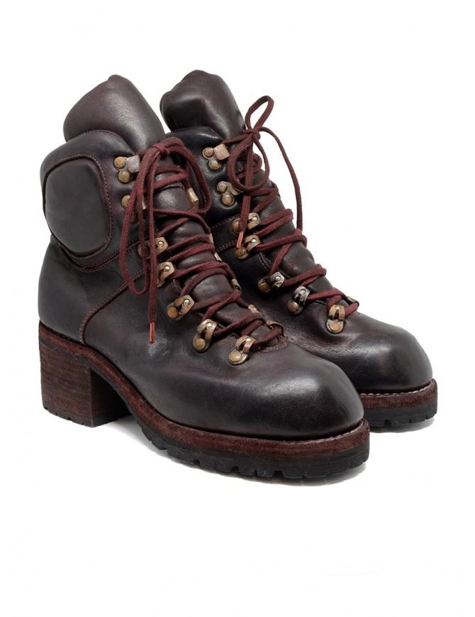 Stivali Guidi R19V CV23T rossi bordeaux stile scarpone R19V HORSE FULL GRAIN CV23T calzature donna online shopping