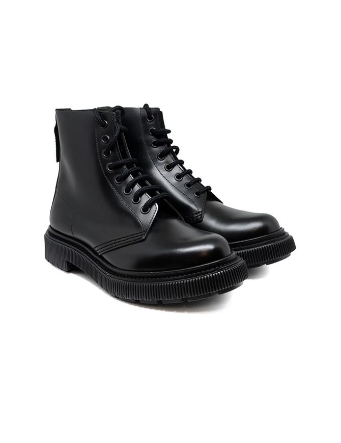 Adieu type 129 black combat boots TYPE 129 BLACK - GREEN womens shoes online shopping