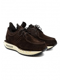BePositive Cyber brown suede leather sneakers online