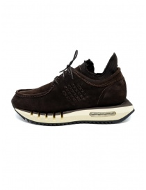 BePositive Cyber brown suede leather sneakers
