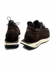 BePositive Cyber brown suede leather sneakers price