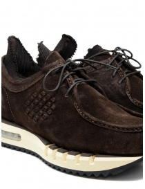 BePositive Cyber brown suede leather sneakers mens shoes buy online