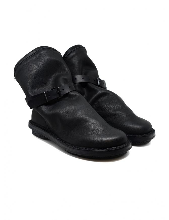 Stivaletti Trippen Bomb neri con cinturino accessorio BOMB F VST VST WAX calzature donna online shopping