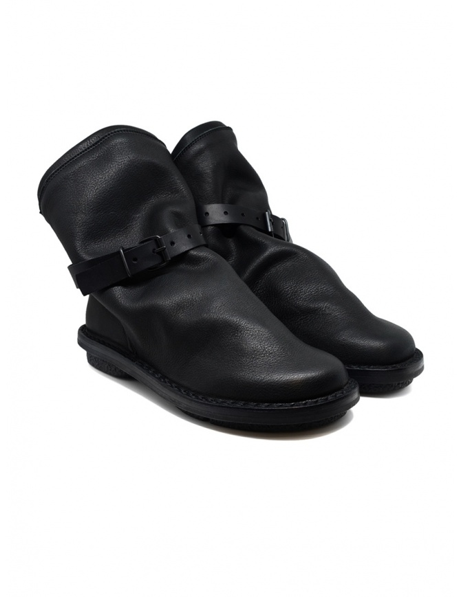Trippen black Bomb ankle boots with removable strap BOMB F VST VST WAX womens shoes online shopping