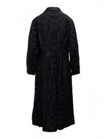 Abito Vlas Blomme blu a quadri con bottoni abiti donna acquista online