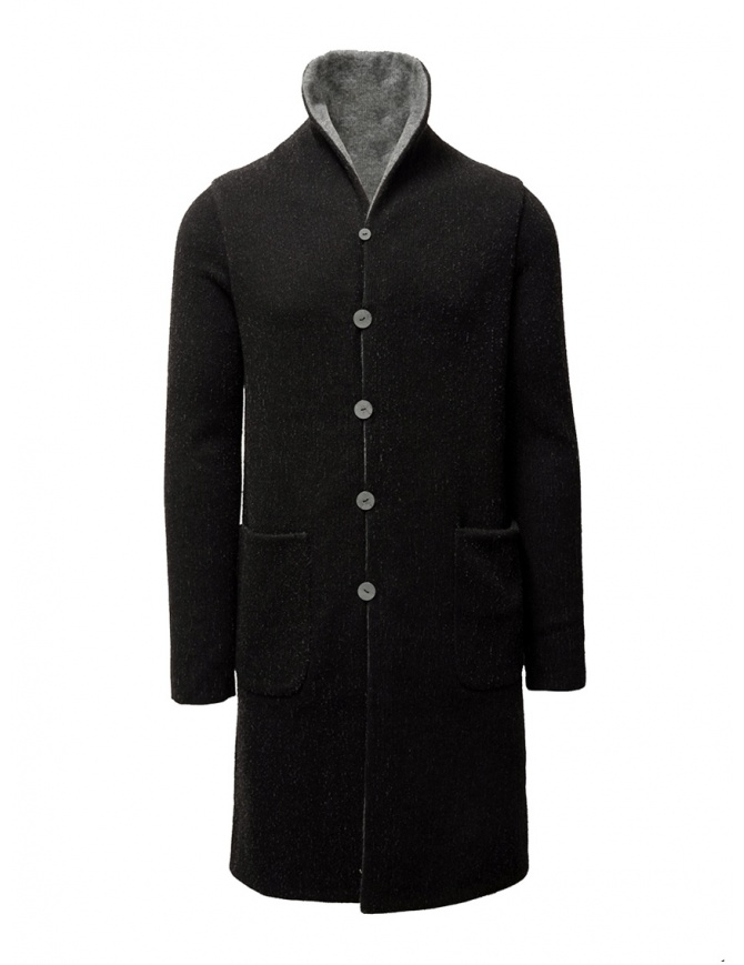 Label Under Construction black-gray reversible coat 34FMCT43 WS91 34/975 mens coats online shopping