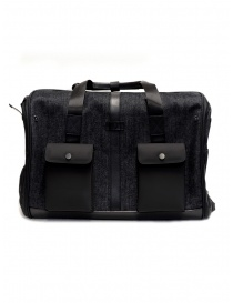 Travel bags online: Frequent Flyer duffel bag in black denim