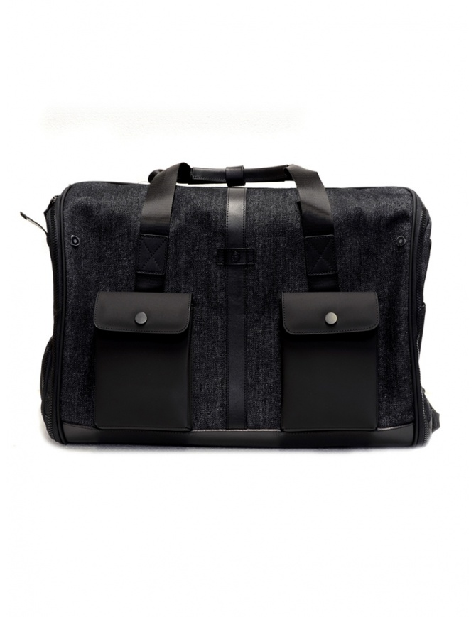 Frequent Flyer duffel bag in black denim NERO DENIM FRERVALL-112012 travel bags online shopping
