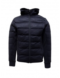 Napapijri Ze-Knit short blue down jacket with hood N0YKBI176 ZE-K230 BLU MARINE order online