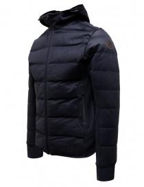 Napapijri Ze-Knit short blue down jacket with hood price