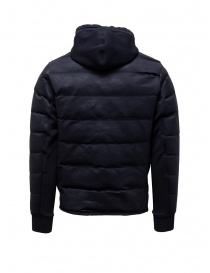 Napapijri Ze-Knit short blue down jacket with hood