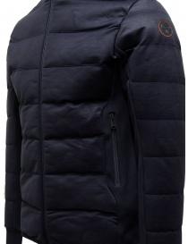 Napapijri Ze-Knit short blue down jacket with hood mens jackets buy online