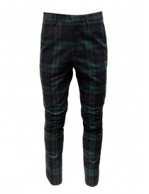 Golden Goose blue and green tartan pants G35MP501.A2 BLK GREEN TARTAN order online