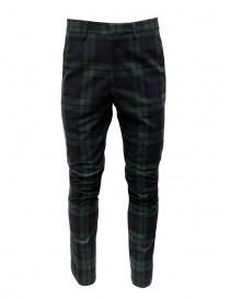 Golden Goose pantaloni a quadri blu verdi G35MP501.A2 BLK GREEN TARTAN order online