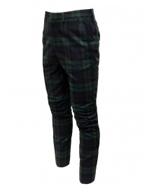 Golden Goose blue and green tartan pants buy online