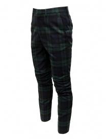 Golden Goose pantaloni a quadri blu verdi