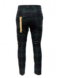 Golden Goose pantaloni a quadri blu verdi prezzo