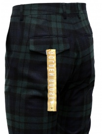 Golden Goose blue and green tartan pants mens trousers buy online
