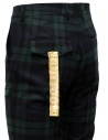 Golden Goose blue and green tartan pants G35MP501.A2 BLK GREEN TARTAN buy online