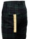 Golden Goose pantaloni a quadri blu verdi G35MP501.A2 BLK GREEN TARTAN acquista online