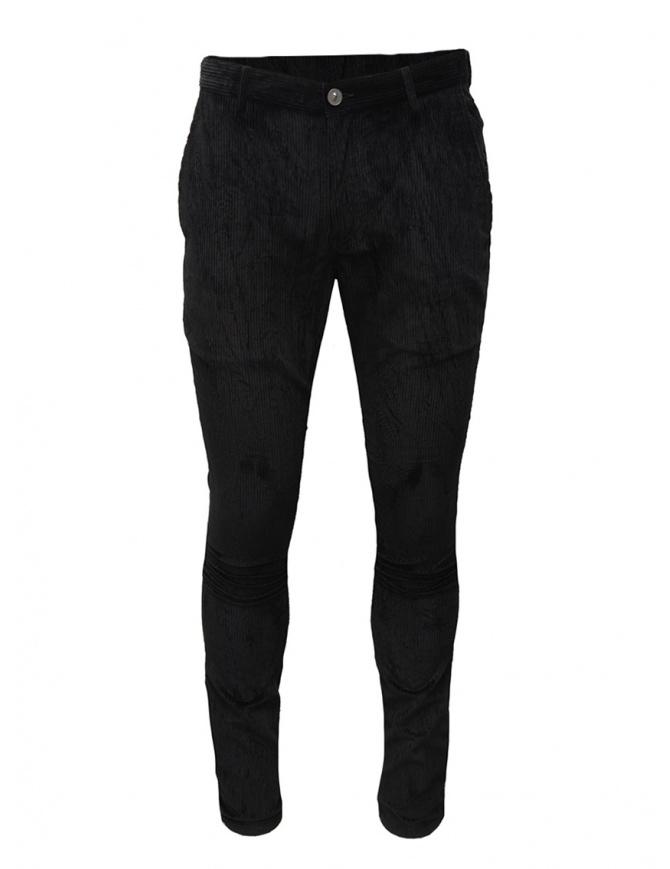 John Varvatos Motor City pantalone velluto nero J293V3 BQPC 001 BLACK pantaloni uomo online shopping