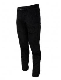 John Varvatos Motor City pantalone velluto nero pantaloni uomo acquista online