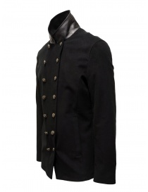 John Varvatos black double-breasted military jacket price