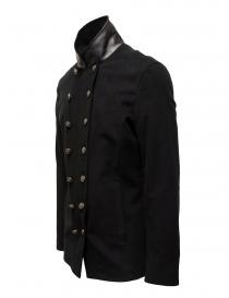 John Varvatos giacca doppiopetto stile militare nera prezzo