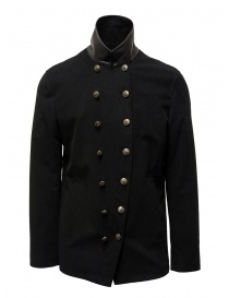 John Varvatos black double-breasted military jacket O1122V3 BQSD 001 BLACK