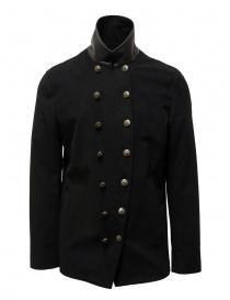 John Varvatos giacca doppiopetto stile militare nera O1122V3 BQSD 001 BLACK order online