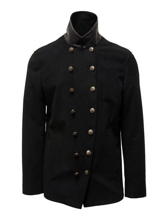 John Varvatos giacca doppiopetto stile militare nera O1122V3 BQSD 001 BLACK giacche uomo online shopping