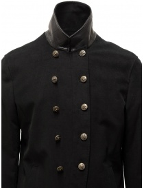 John Varvatos black double-breasted military jacket buy online
