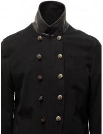 John Varvatos giacca doppiopetto stile militare nera