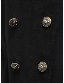John Varvatos giacca doppiopetto stile militare nera giacche uomo prezzo