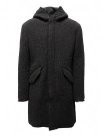 Mens jackets online: John Varvatos dark grey knitted parka