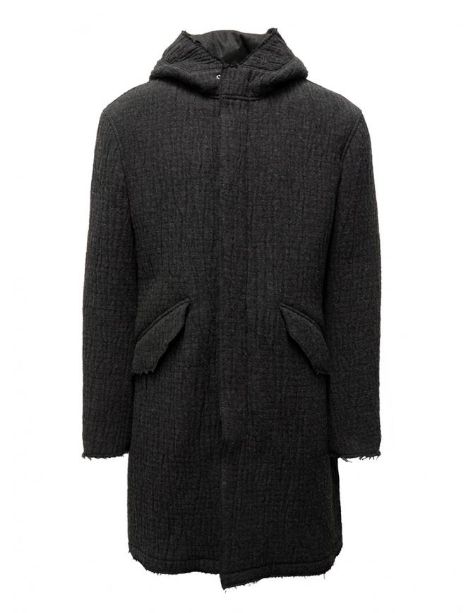John Varvatos dark grey knitted parka O1736V3 BQCM 041 DKGREY HTH mens jackets online shopping