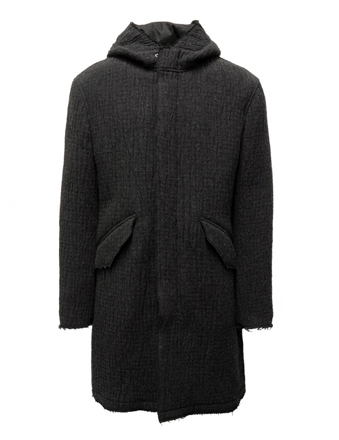 Parka John Varvatos in maglia grigio scuro O1736V3 BQCM 041 DKGREY HTH giubbini uomo online shopping