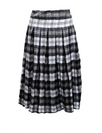 Casey Casey white and blue tartan midi skirt 13FJ73 SCOZZESE