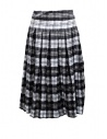 Casey Casey white and blue tartan midi skirt buy online 13FJ73 SCOZZESE