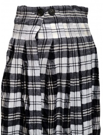 Casey Casey white and blue tartan midi skirt price