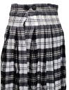 Casey Casey white and blue tartan midi skirt 13FJ73 SCOZZESE price