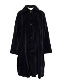 Cappotto Casey Casey in velluto blu scuro online